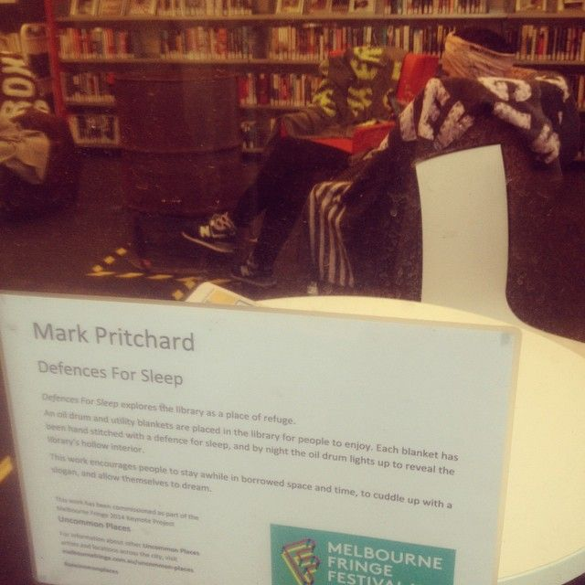 "@poetlaureatetn's photo: ""A lovely, simple, welcoming piece :) #mfringe #art #library"""