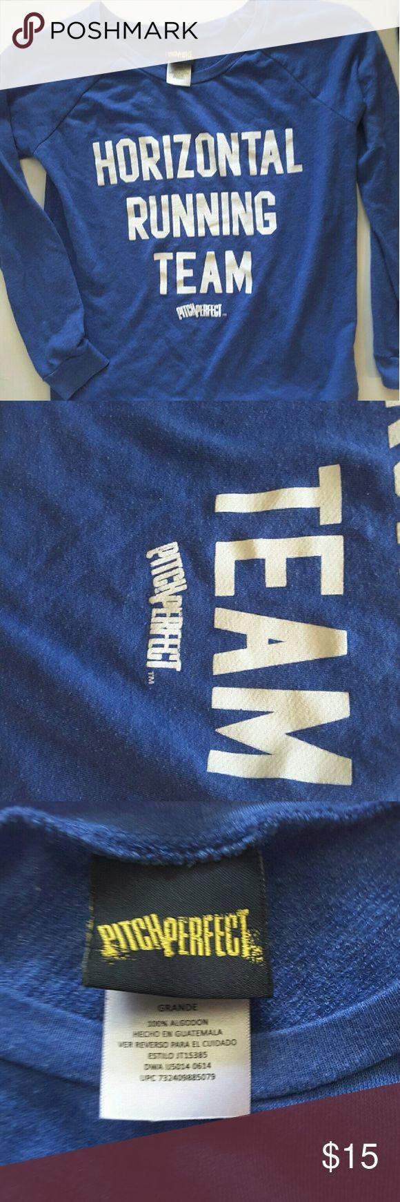 Pick perfect horizontal running team Pick perfect over sized horizontal running team shirt Tops Tees - Long Sleeve