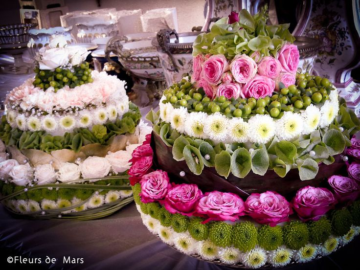 Flower cakes by Marcelline
