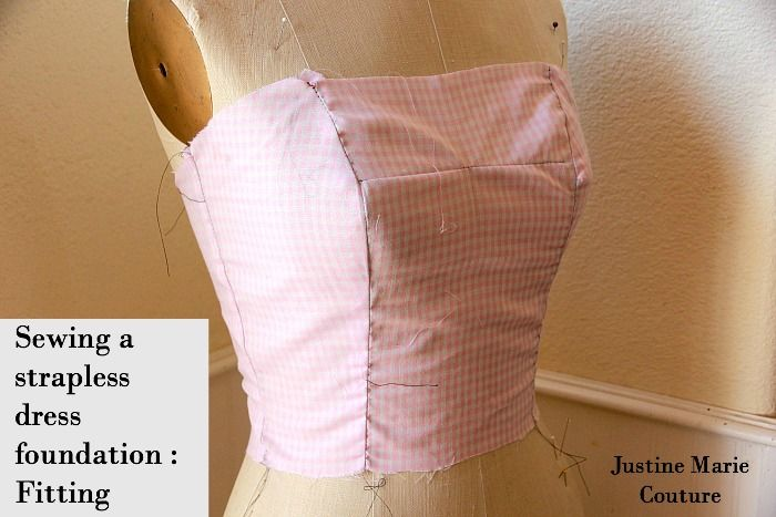 sewing a strapless dress foundation fitting muslin