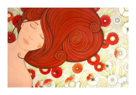 """""Lady Orange"", ""Dama Arancio"""" by cinzia mazzoni on #INPRNT - #fine art #print #poster #art"