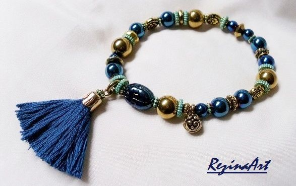 Egypt inspiration in blue