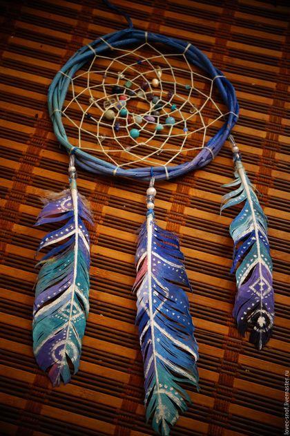 """Hunters handmade dreams.  """"Water Magician"""" Dreamcatcher.  Diana Moskalenko (Magic Shop).  Arts and crafts fair.  dreams Traps"""