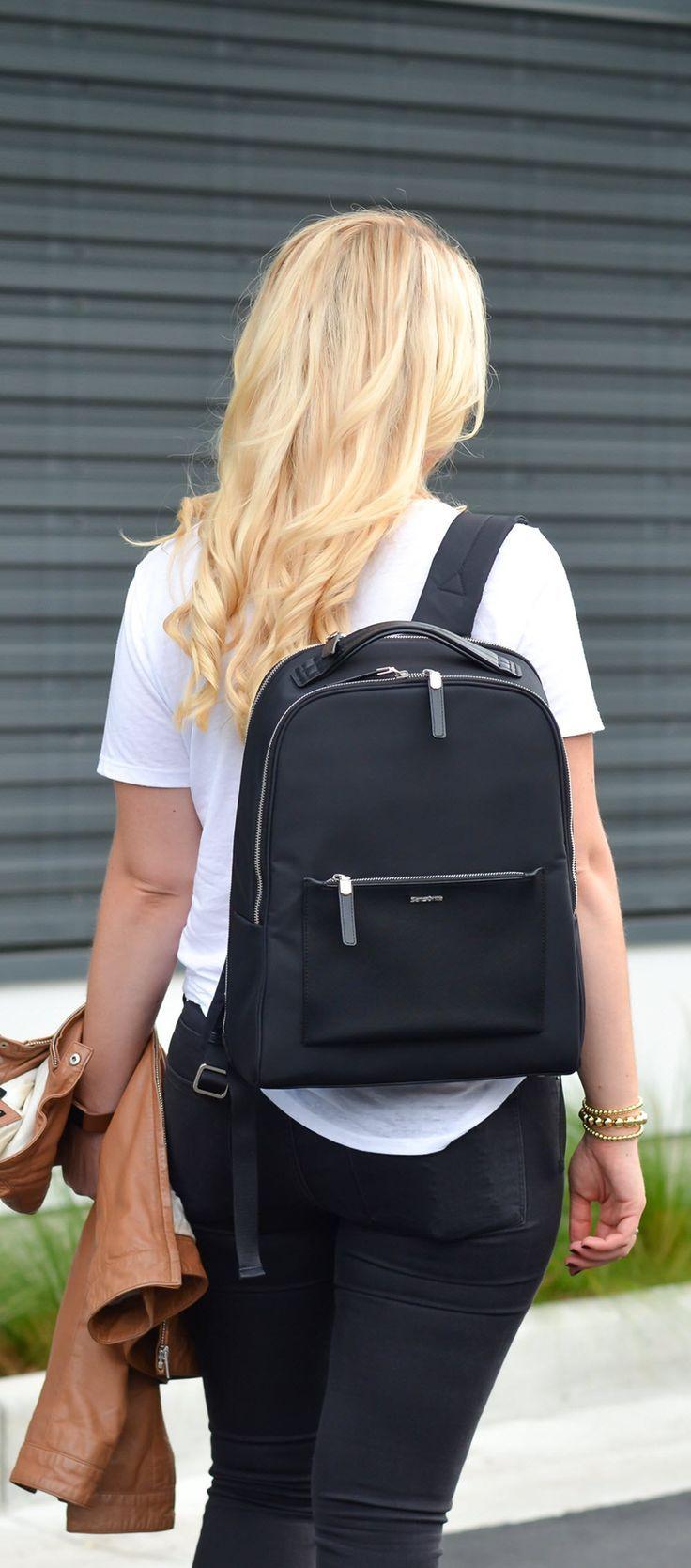 1f1f4e9f1a Best Travel Work Bags for Stylish Women. Chic Work Laptop Backpack -  Samsonite Zalia Backpack Review