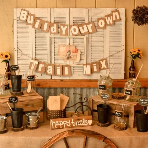 Build Your Own Trail Mix Bar. Like The Rustic, Tiered Table Display. Banner