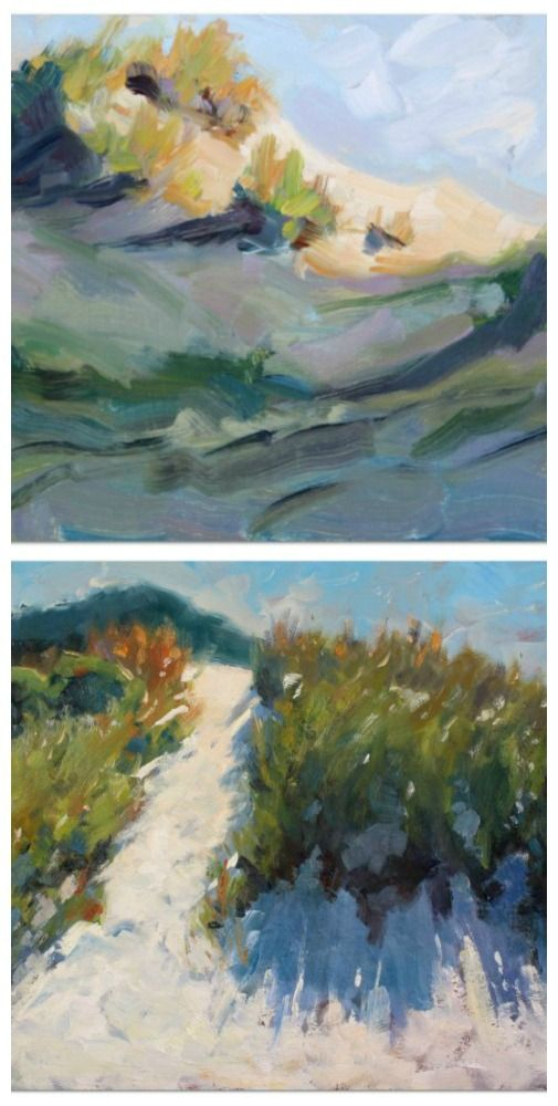 Painting dunes is part of a series exploring color temperature, light and shade.
