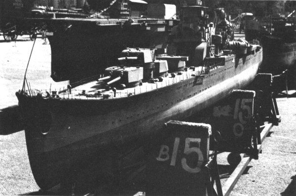 Tora! Tora! Tora! - Japanese light cruiser Akubuma. This model was about 25 feet long, and sold at auction for only $800!