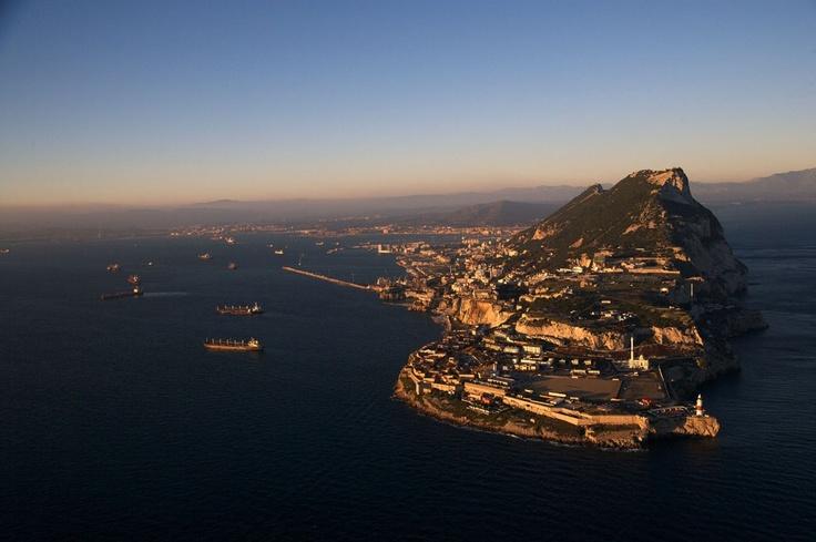 The Rock of Gibraltar, Gibraltar (British overseas territory) (36°07' N, 05°21' W).