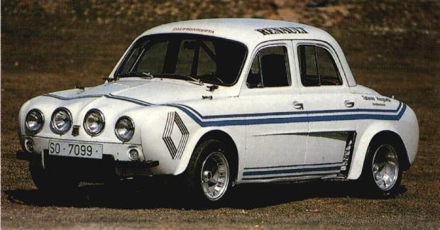 Renault Dauphine rally car 1960s?