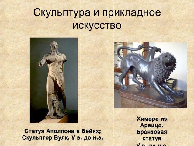 Скульптура и прикладное           искусство                                    Химера из                                  ...