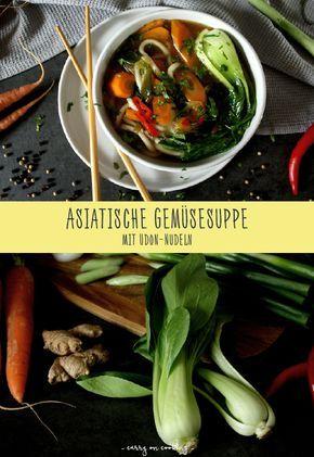 Die asiatische Küche ist stets für eine kulinarische Überraschung gut. Auch meine asiatische Gemüsesuppe mit Udon-Nudeln hält so einige davon bereit: Scharfer Ingwer, süße Möhren, knackiger Pak Choi und dicke Udon-Nudeln in einer Suppe, die zugleich spannend, leicht und lecker schmeckt.