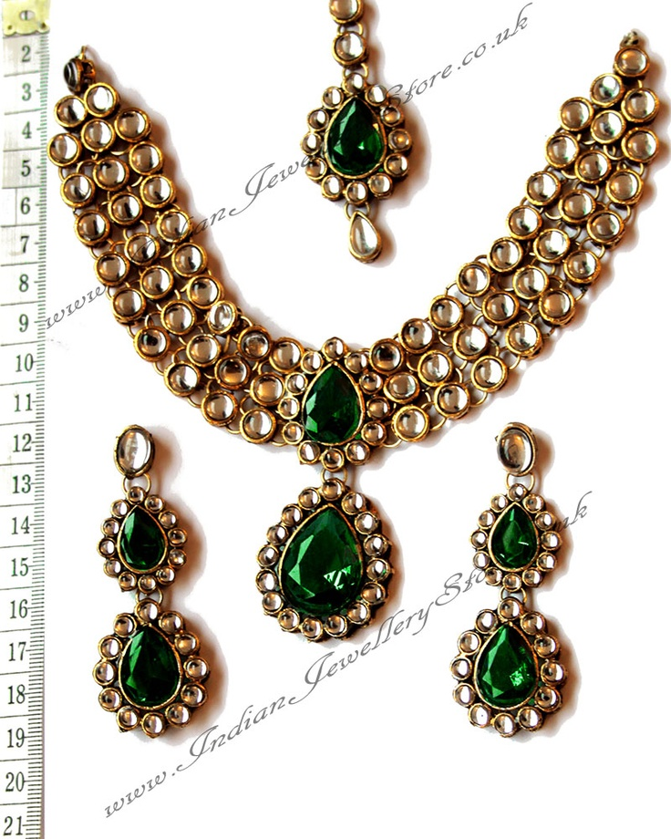 Indian Jewellery Bridal Jewellery Buy Green Gold Sets Nagk0656