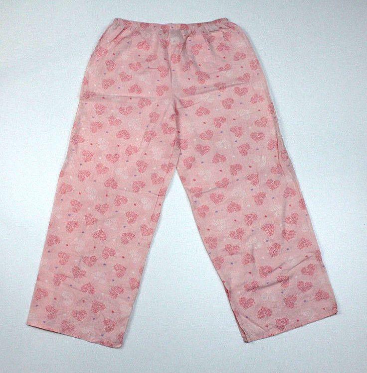 Marks & Spenser Womens Size M Pajama Lounge Pants Pink Fuzzy Bottoms Cotton #MarksSpenser #LoungePantsSleepShorts