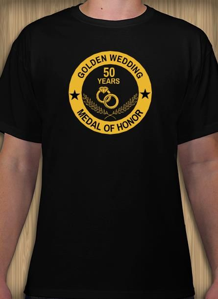 d23c78ef Golden wedding anniversary t-shirt design idea and template for 50th  anniversary.
