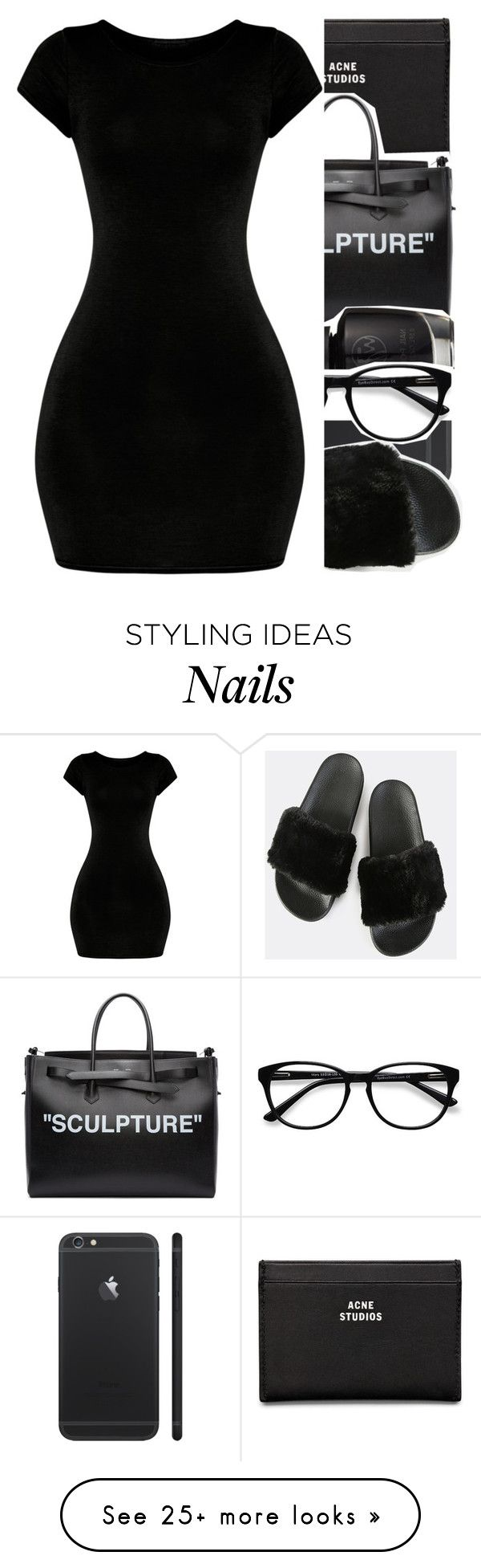 """."" by afrobby on Polyvore featuring Acne Studios, Off-White and EyeBuyDirect.com"