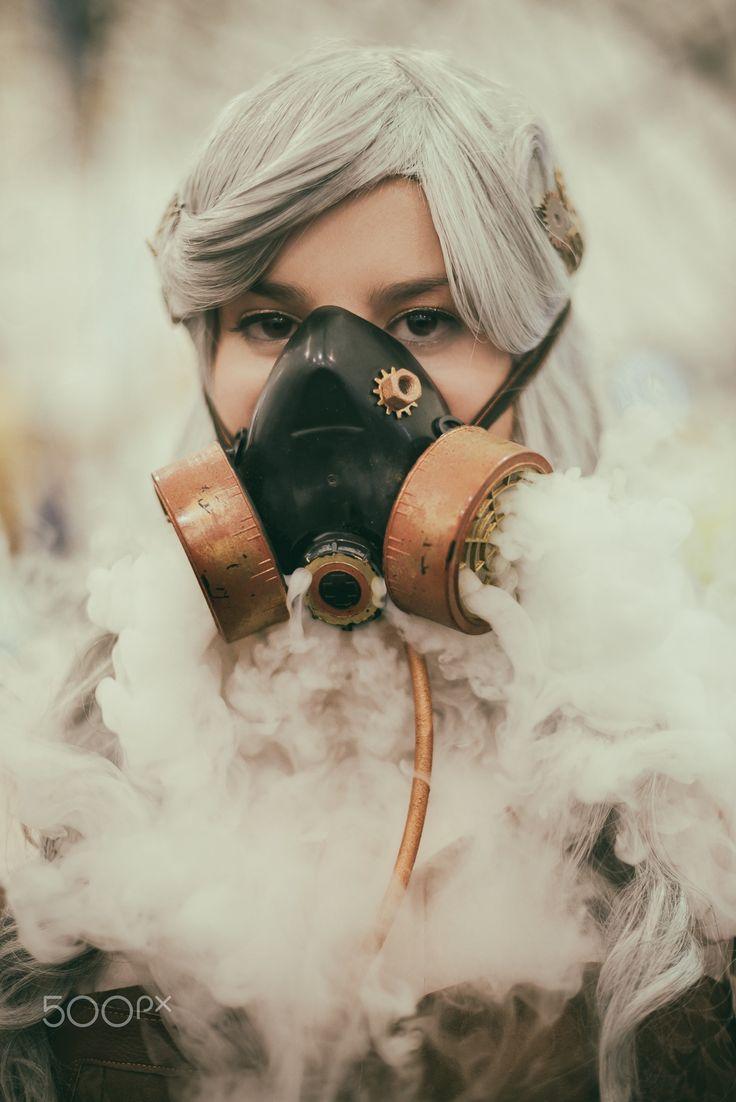 Steampunk Girl - Steampunk Girl Smoke Mask #steampunk #girl #cosplay #portrait #portraitphotography #cosplayphotography