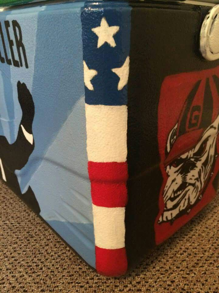 america american flag usa us united states red white and blue cooler corner {I like this a lot}