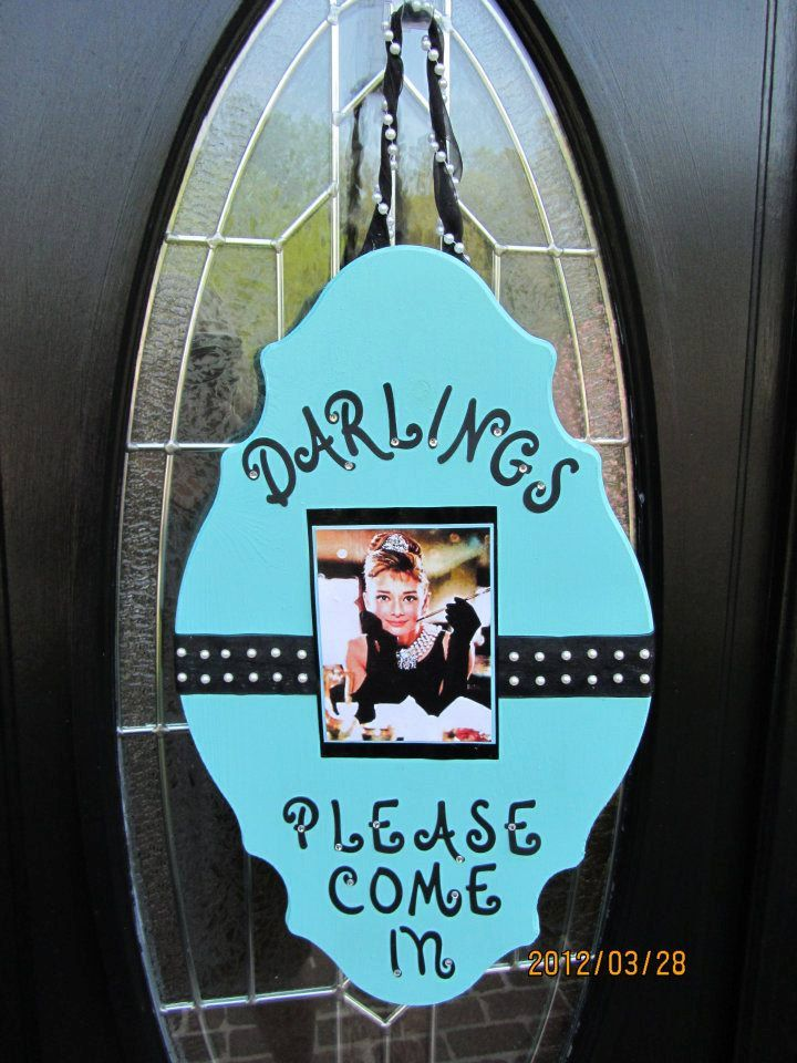 Welcome sign for Breakfast at Tiffany's by SouthernRoseDesign, $45.00