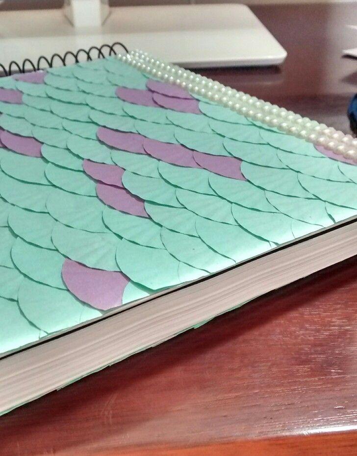 Diy Unicorn Book Cover : Mermaid notebook diy sereia