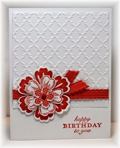 Scrappin' and Stampin' in GJ - Flower Shop, Petite Petal & Mixed Bunch make the flower