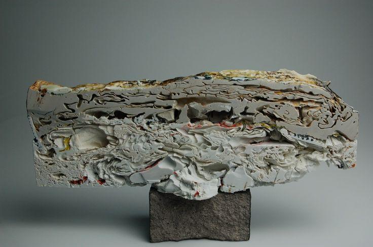 Layered Depths by Kahlil Irving of Kansas City Art Institute. Category: Ceramics, Sculptural. #ceramics, #sculpture, #layers