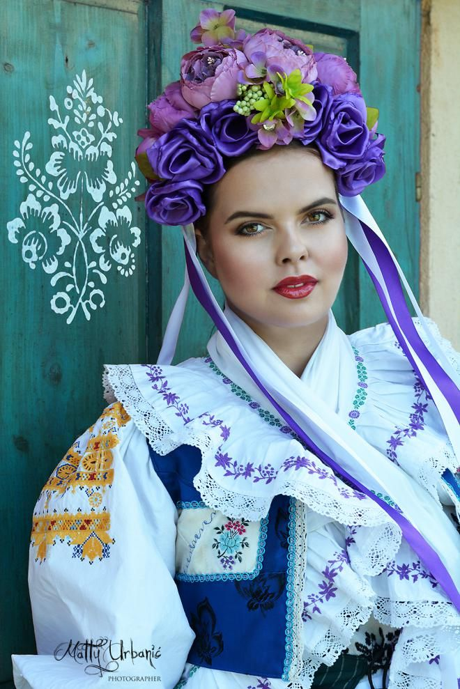 Slovak folk bridal costume