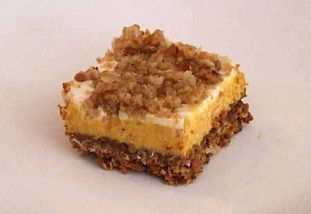Pumpkin Cheesecake Crumble Squares | Pumpkin Cheesecake, Cheesecake ...