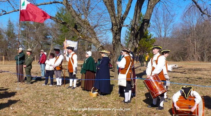 Where to Experience Boston's Patriots' Day Events. Colonial Reenactors march to Concord on Boston's Patriots' Day each April
