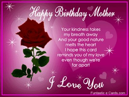 Best 25 Mother birthday wishes ideas – Birthday Greeting Card for Mother
