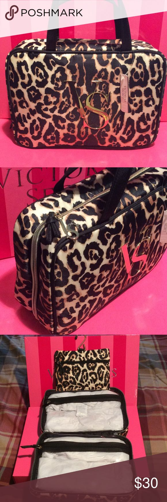 Victoria's Secret Beauty Hanging Bag New with tag. Leopard print hanging Beauty bag. Great for traveling! Victoria's Secret Bags