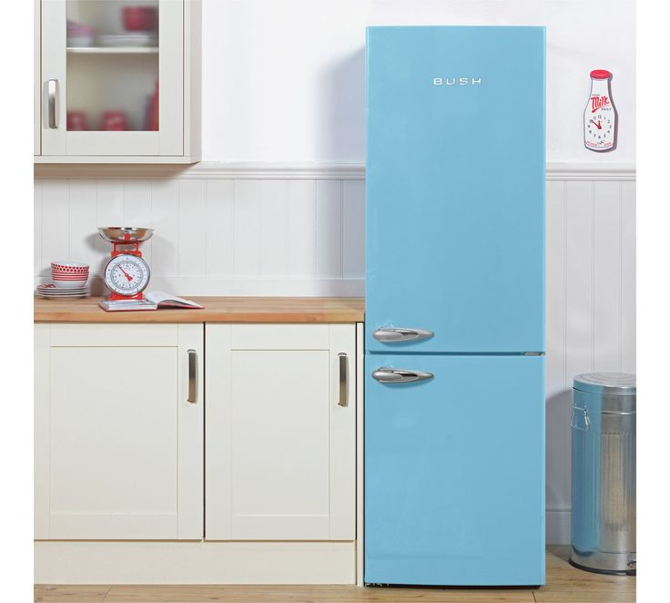 Buy Bush Classic BFFF60 Retro Fridge Freezer - Blue at Argos.co.uk, visit Argos.co.uk to shop online for Fridge freezers, Large kitchen appliances, Home and garden
