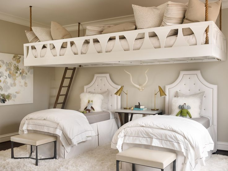 Children's Bedroom: The team at The Design Atelier creates exceptional & truly unique spaces for their clients. Extreme talent & tremendous experience fuel these designs. #doublebed #sharedroom