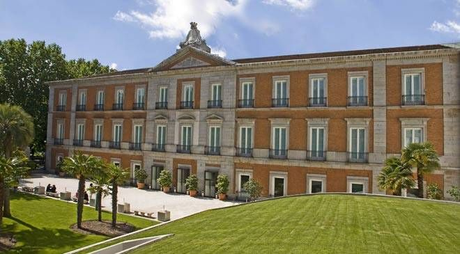 Museo Thyssen-Bornemisza en Madrid. tiene su sede en un edificio histórico, el Palacio de Villahermosa