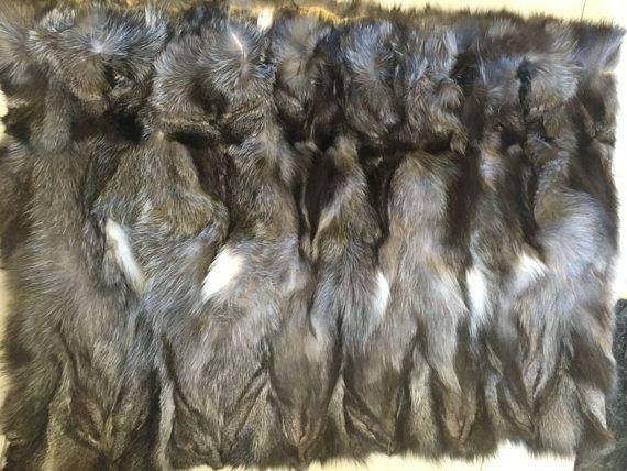 Blue frost fox  Sectional Fur Plate by skffurs on Etsy