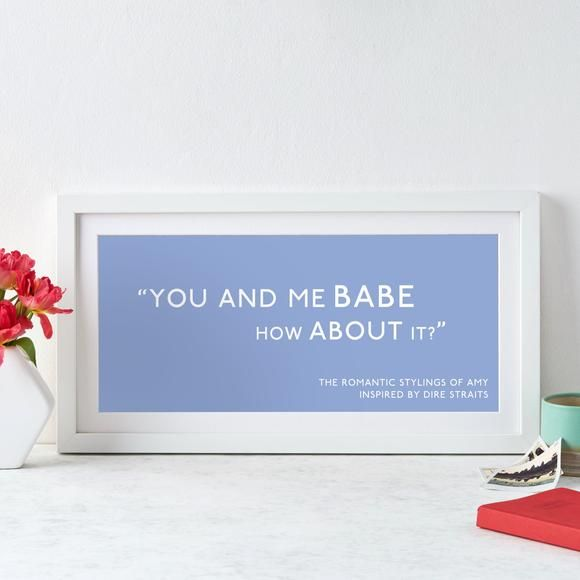 Personalised Quotation Print