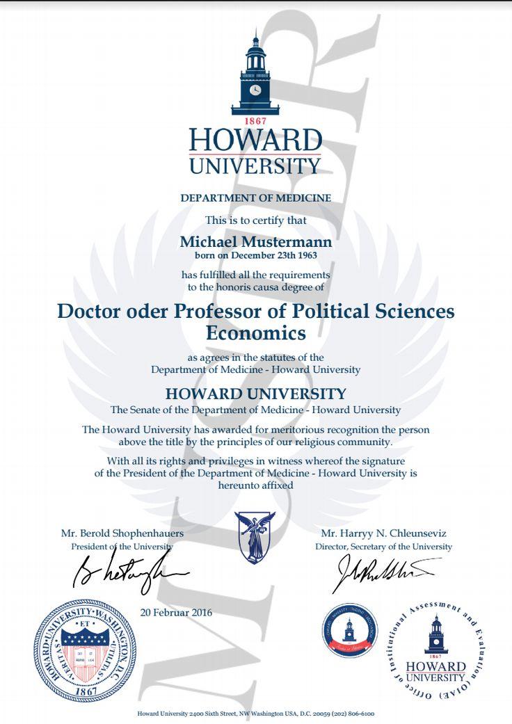 Doktortitel kaufen Howard | Berufszertifikate & Diplome HONORARY DEGREE CERTIFICATE HARVARD, CAMBRIDGE, OXFORD, STANFORD, PRINCETON, YALE, MASSACHUSETTS Urkunde, Zeugnis, Dokument, Zertifikat, Bescheinigung, Diploma, Doctor, Professor Titel, Doktortitel kaufen, Diplom, Bachelor, Master, Dr Titel, MBA, Abitur & (Dr., PhD, DBA) Dr.h. Doktor honoris causa, Professor, Urkunde, Zeugnis, Dokument, Zertifikat, Bescheinigung, Honoris Causa, Associate Degree, Bachelor's Degree!  www.etwas.info