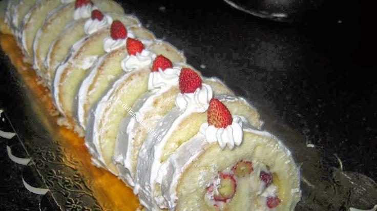 Le Delizie di Casa Mia: Rotolo con fragoline e crema bianca
