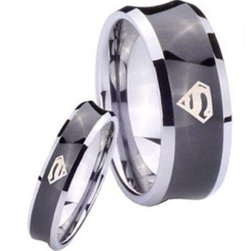 !COI Tungsten Carbide Superman Wedding Band Ring - TG4151