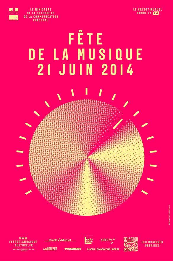 affiche 2014 Laffiche de la Fête de la Musique 2014