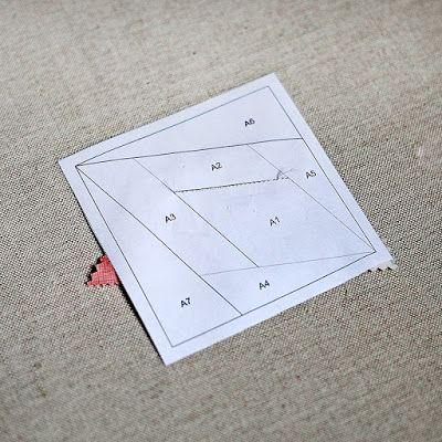 """Квилтик: Салфетка на стол в технике """"шитье по бумаге"""""""