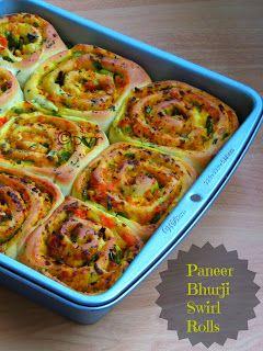 Paneer bhurji Swirl Rolls