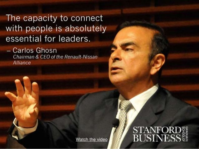 a great leader carlos ghosn challenges The japanese are so organized and know how to make the best of things  this  began to address the problems within the vertical layers of management by  bringing the  the global leadership of carlos ghosn at nissan essay - the  global.