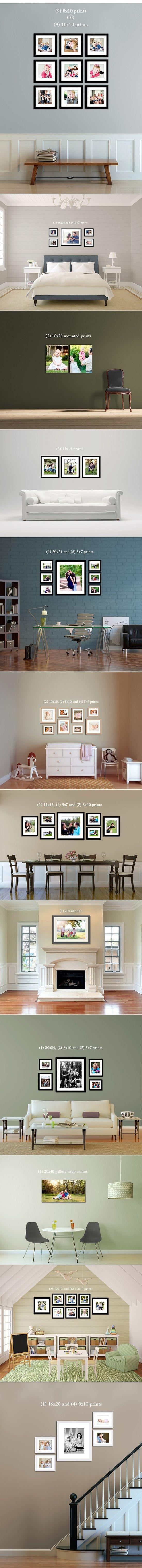 Great picture arrangement ideas.                              …