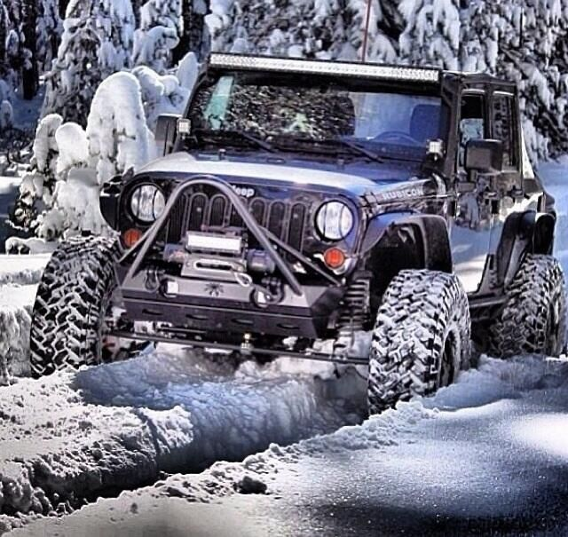 Off-road Jeep in the snow                                                                                                                                                                                 More