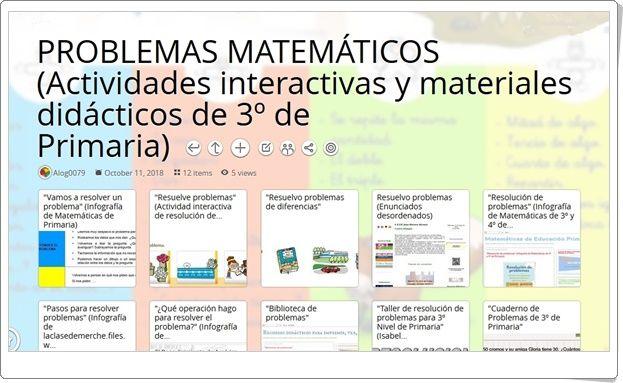 12 Actividades Interactivas Y Materiales Didácticos De Problemas Matemáticos En 3º De Primaria Actividades Interactivas Problemas Matemáticos Matematicas
