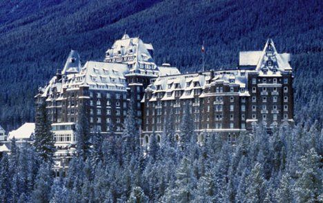 Banff Springs Hotel in Banff, Alberta is so beautiful and is said to be haunted by a bride who fell to her death on her wedding night. And Sam the Bellhop man! #CDNGetaway