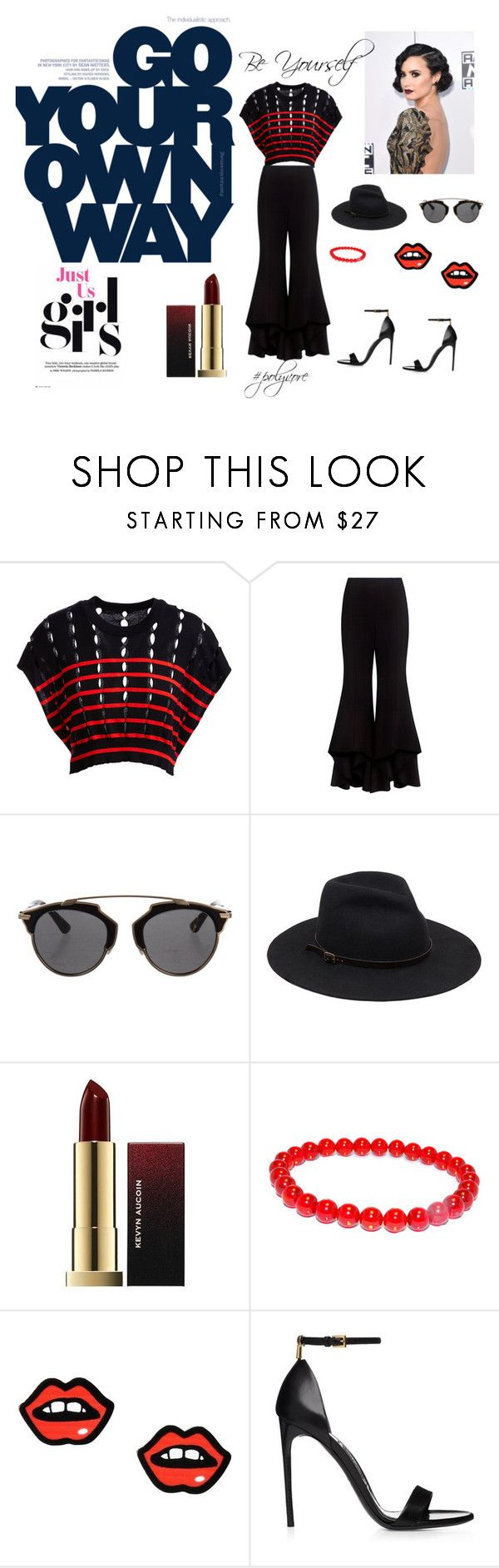 """""""be yourself"""" by isompearson ❤ liked on Polyvore featuring T By Alexander Wang, Alexis, Christian Dior and George J. Love"""
