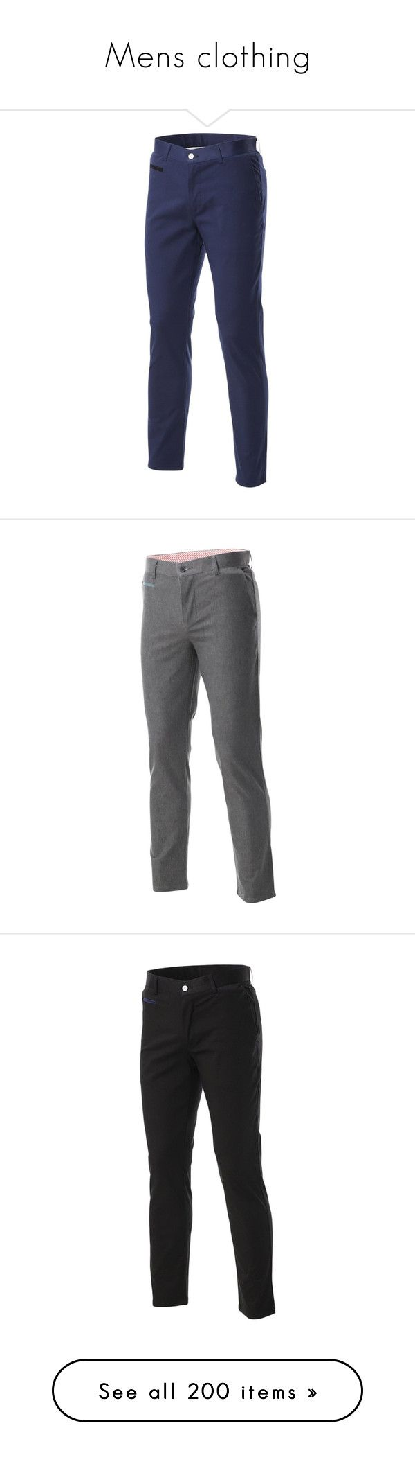 """""""Mens clothing"""" by gracewoods ❤ liked on Polyvore featuring men's fashion, men's clothing, men's pants, men's casual pants, mens slim fit chino pants, mens slim fit pants, mens chino pants, mens chinos pants, mens slim pants and flatseven"""