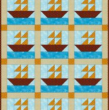 Step 2.  Sew this cute sailboats baby quilt the next time you need a quilting project for a special little one.