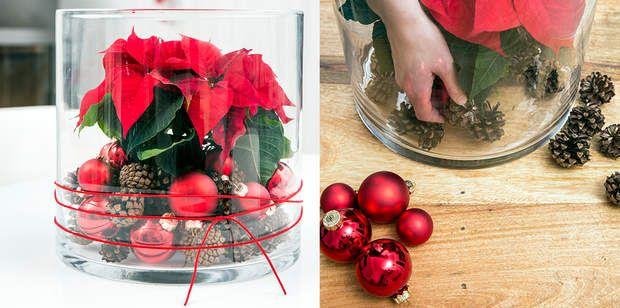 Un vase décoré pour ma table de NoëlDécouvrer comment faire cevase décoré pour ma table de Noël
